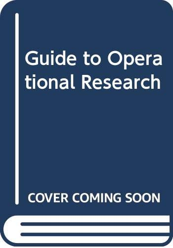 A Guide to Operational Research: Duckworth, Eric
