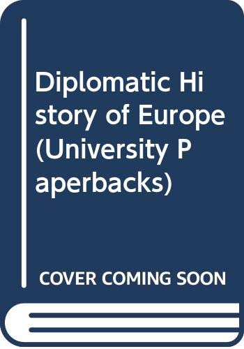 9780416692808: Diplomatic History of Europe
