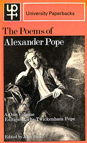 9780416693300: The Poems of Alexander Pope. A One Volume Edition of the TWICKENHAM POPE.