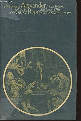 The Poems of Alexander Pope (University Paperbacks): Alexander Pope, edited