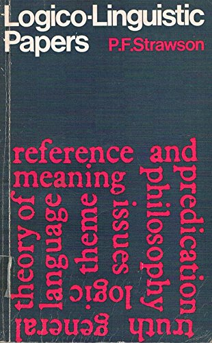 9780416703009: Logico-Linguistic Papers (University Paperbacks)