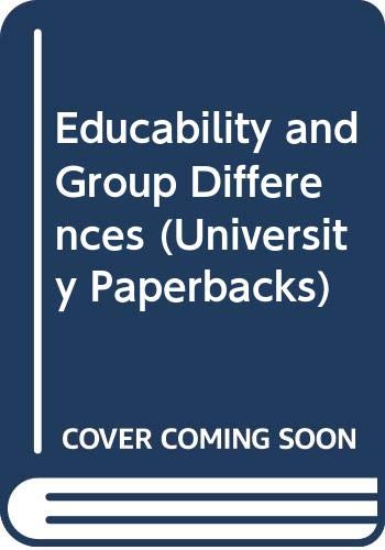 9780416704600: Educability and Group Differences (University Paperbacks)