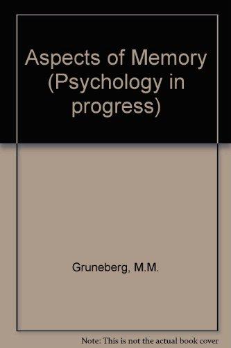 9780416705508: Aspects of Memory (Psychology in progress)