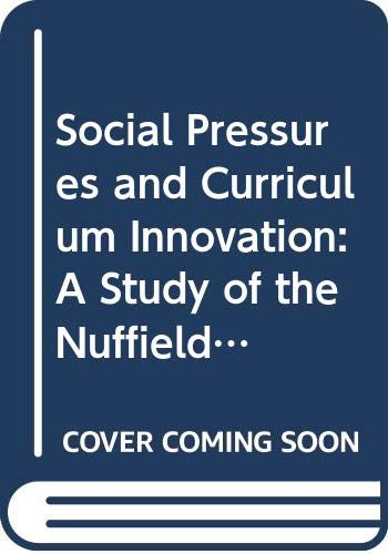 Social Pressures and Curriculum Innovation: A Study: Mary Waring