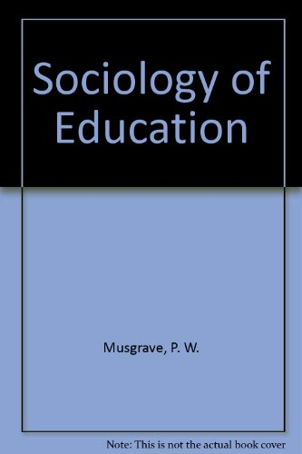 9780416730302: Sociology of Education