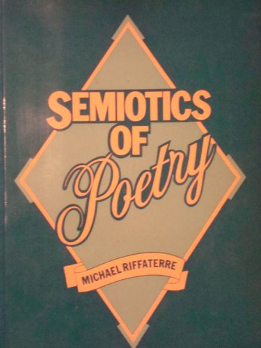 9780416732009: Semiotics of Poetry (University Paperbacks)