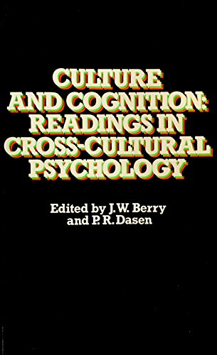 9780416751802: Culture and Cognition: Readings in Cross-cultural Psychology (Manual of Modern Psychology)
