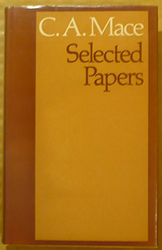9780416770100: Selected papers