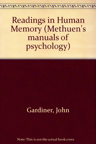 9780416792102: Readings in Human Memory (Methuen's manuals of psychology)