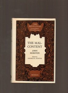 The Malcontent (Revels plays) (9780416806908) by John Marston