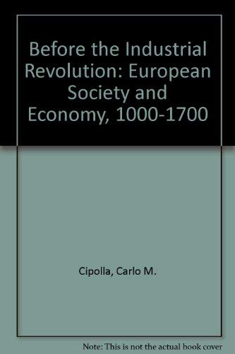 9780416809008: Before the Industrial Revolution: European Society and Economy, 1000-1700