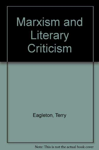 9780416824209: Marxism and Literary Criticism