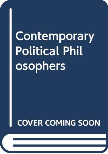 9780416833706: Contemporary Political Philosophers