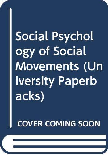9780416950007: Social Psychology of Social Movements (University Paperbacks)