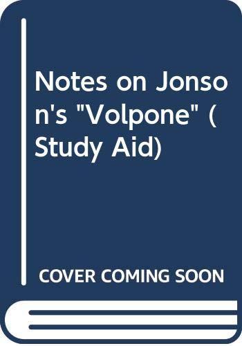 9780417215303: Notes on Jonson's