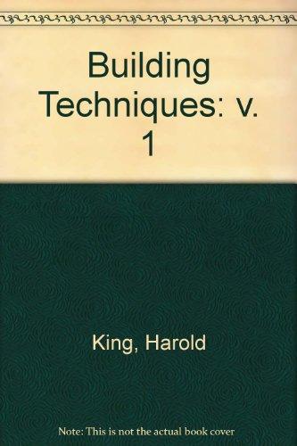 9780419011200: Building Techniques: v. 1