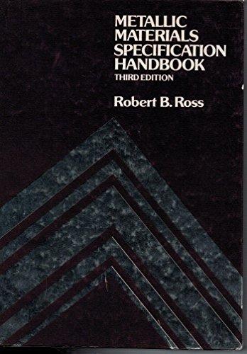 9780419113607: Metallic Materials Specification Handbook