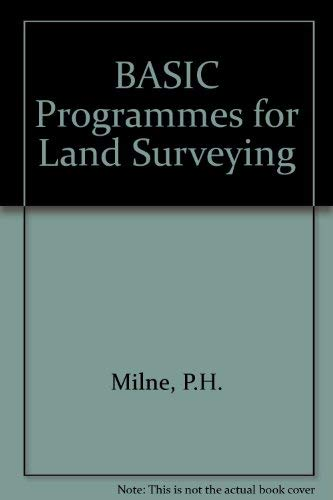 9780419130109: Basic Programs for Land Surveying