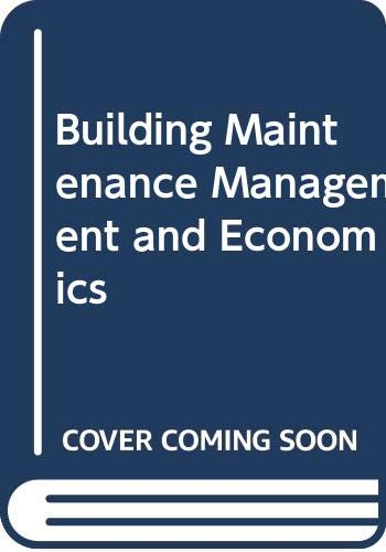 9780419142904: Building Maintenance Management and Economics
