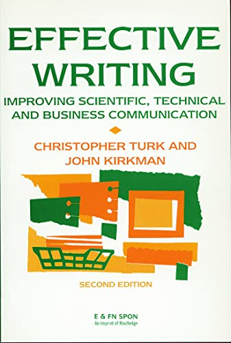 9780419146605: Effective Writing: Improving Scientific, Technical and Business Communication