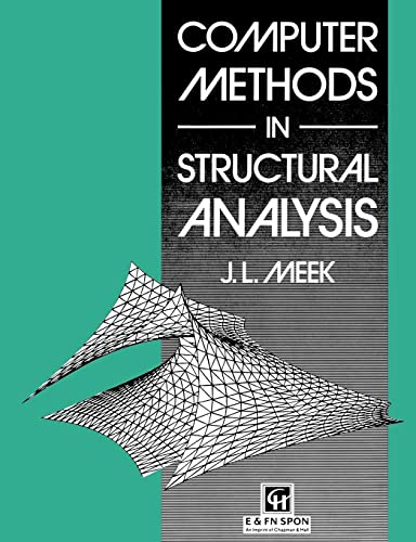 9780419154402: Computer Methods in Structural Analysis