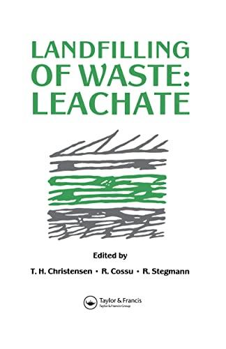 9780419161400: Landfilling of Waste: Leachate (Volume 3)