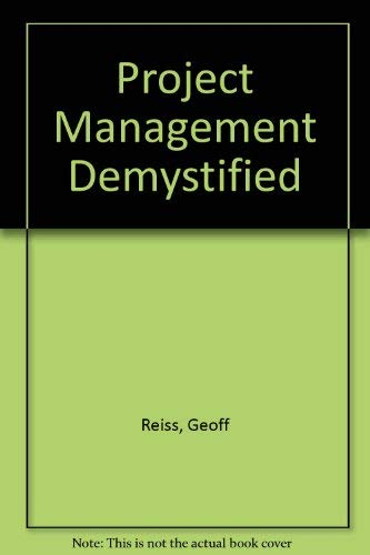 9780419169208: PROJECT MANAGEMENT DEMYSTIFIED PB
