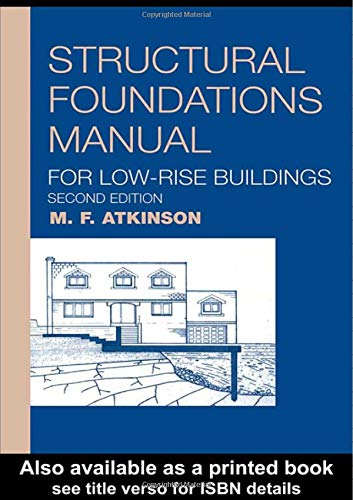 9780419179405: Structural Foundations Manual for Low-Rise Buildings