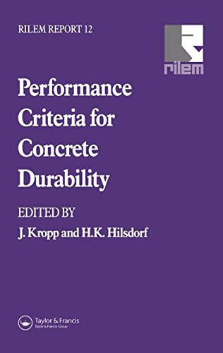 9780419198802: Performance Criteria for Concrete Durability (RILEM Reports)