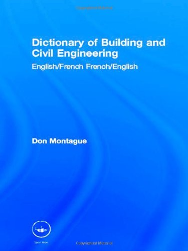 9780419199106: Dictionary of Building and Civil Engineering: English/French   French/English