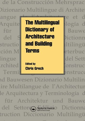 9780419199205: Multilingual Dictionary of Architecture and Building Terms