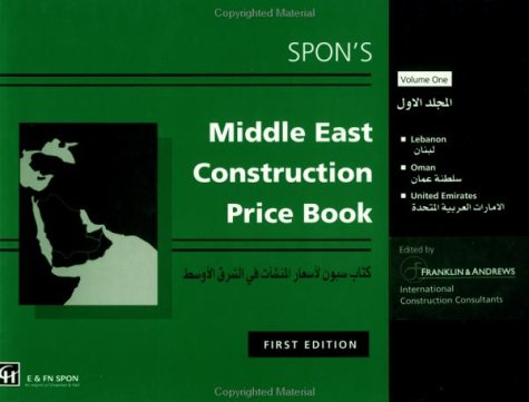 9780419211204: Spon's Middle East Construction Price Book: Lebanon Oman United Arab Emirates