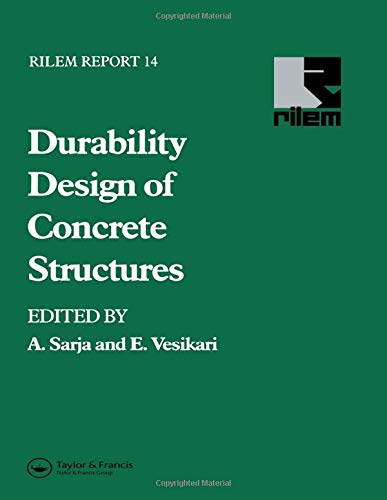 9780419214106: Durability Design of Concrete Structures (Rilem Report)