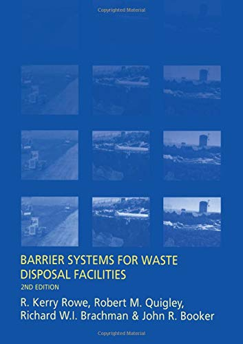 9780419226307: Barrier Systems for Waste Disposal Facilities, Second Edition