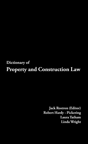 9780419261001: Dictionary of Property and Construction Law