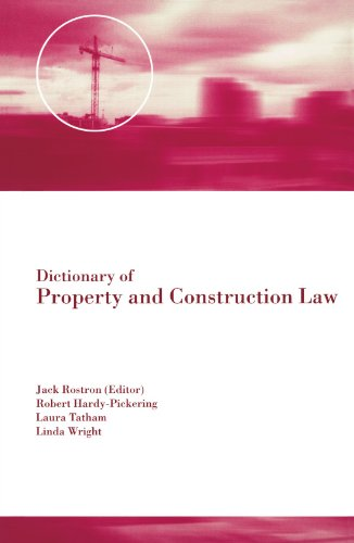 9780419261100: Dictionary of Property and Construction Law