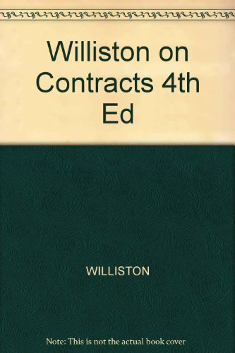 9780420023605: Williston on Contracts 4th Ed