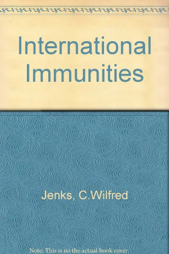 9780420364609: International Immunities