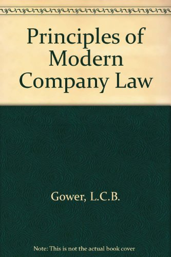 9780420424105: The principles of modern company law,
