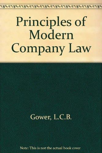 9780420424105: Principles of Modern Company Law