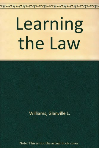 9780420426208: Learning the Law