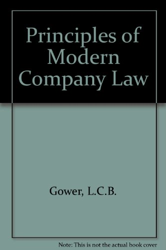 9780420426505: Principles of Modern Company Law