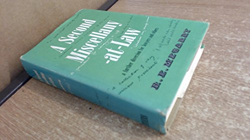 9780420443908: A Second Miscellany-at-law: A Further Diversion for