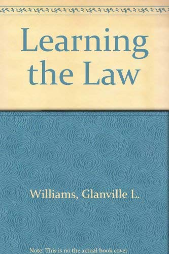 9780420451200: Learning the Law