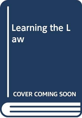 9780420451309: Learning the Law
