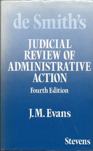9780420454003: Judicial Review of Administrative Action