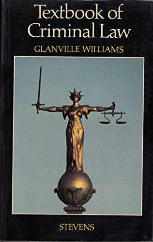 9780420454805: Textbook of Criminal Law