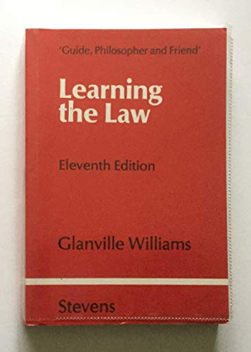9780420462909: Learning the Law