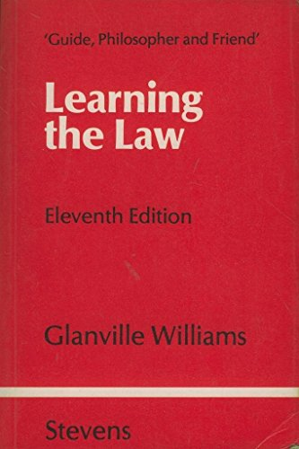 9780420463005: Learning the Law