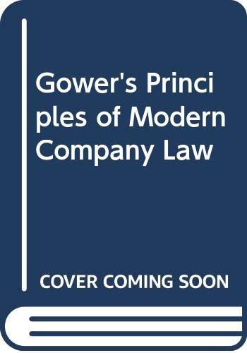 9780420463906: Gower's Principles of Modern Company Law